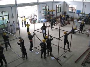 造船足場とびミャンマー人技能実習生トレーニング