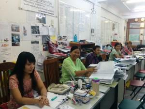 ミャンマー技能実習生送出し機関ARBOURFIELD オフィスの様子