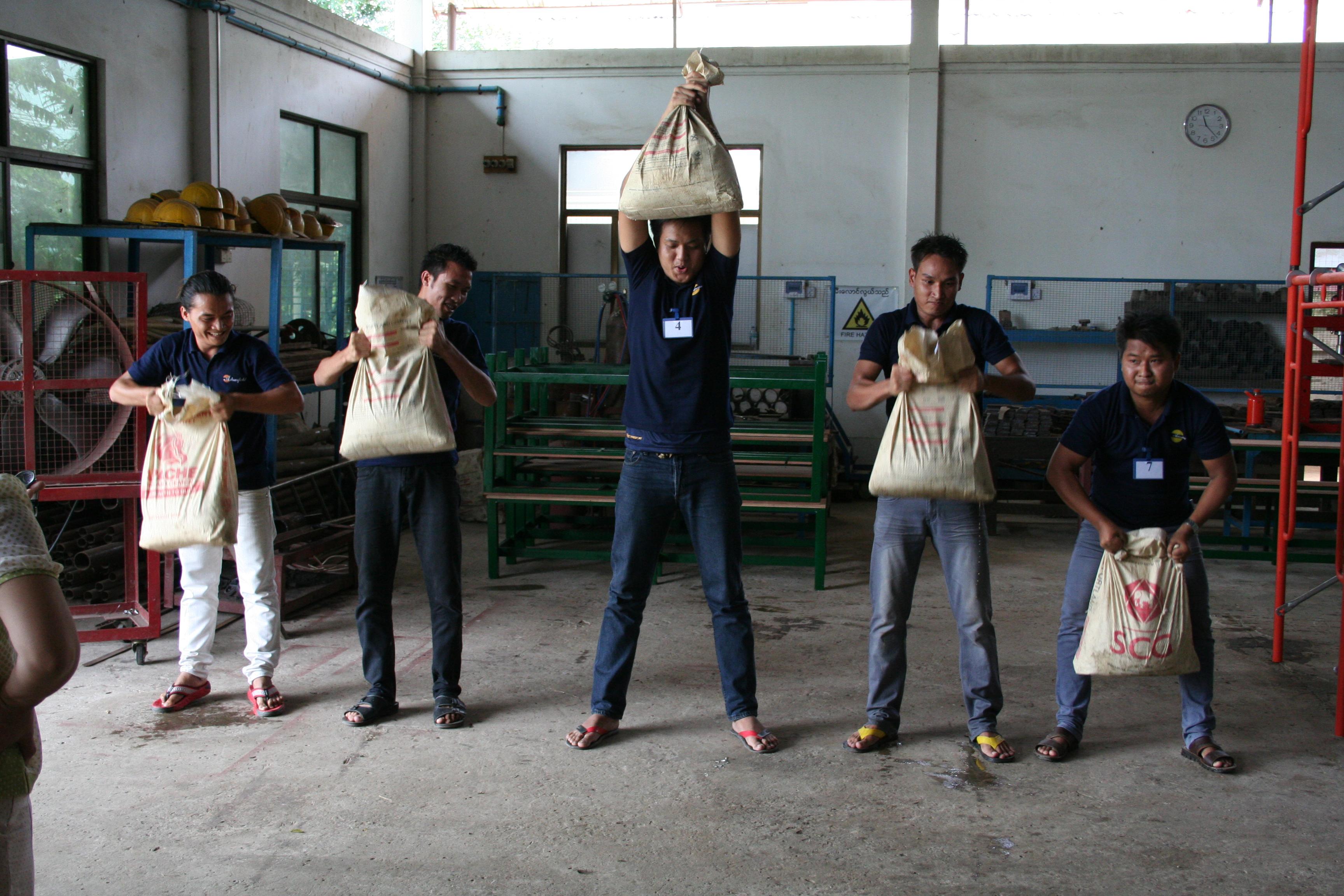 ミャンマー人技能実習生トレーニングテスト