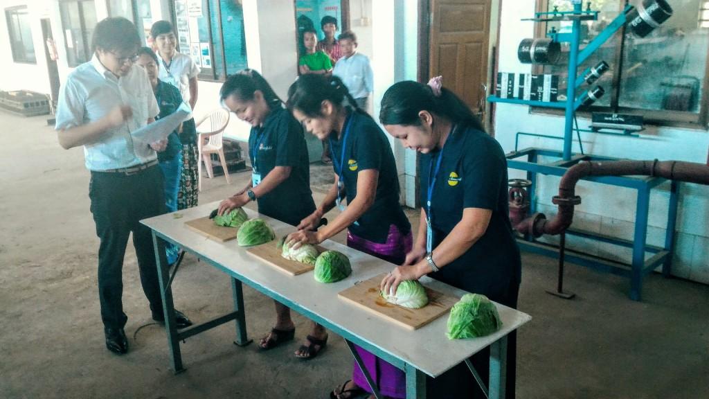 ミャンマー人技能実習生惣菜製造業