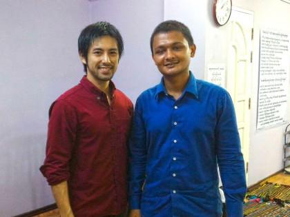ミャンマーに大志を抱く青年ボランティアがミャンマーの学校にやってきた