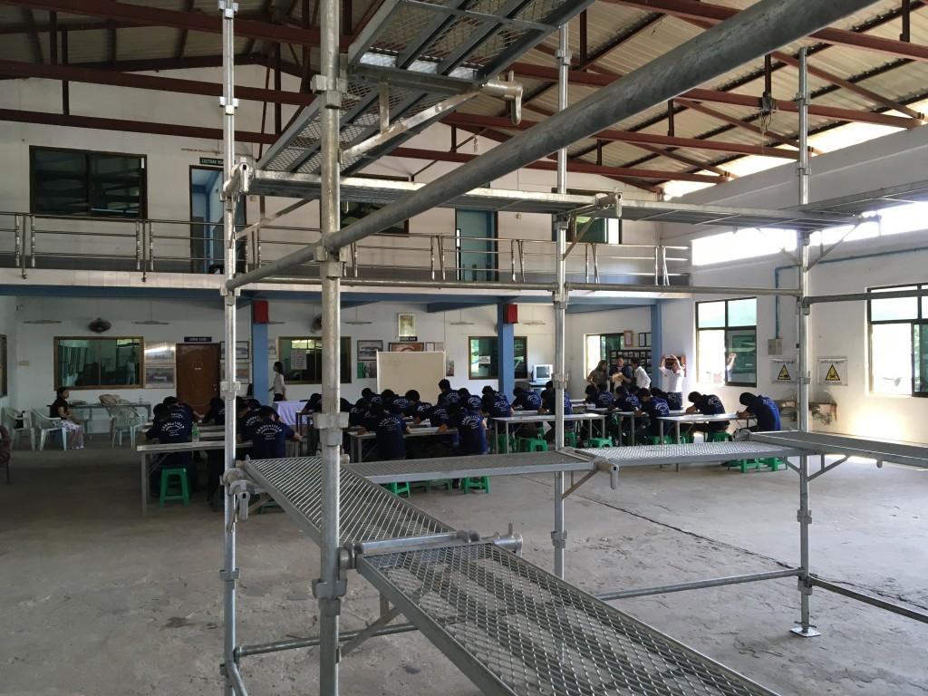 ミャンマー技能実習生ー建設足場とび採用試験