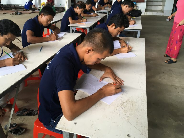 ミャンマー技能実習生日本語教育