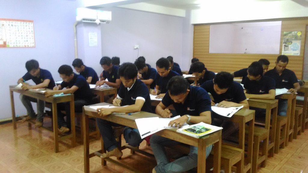 日本語学習の様子