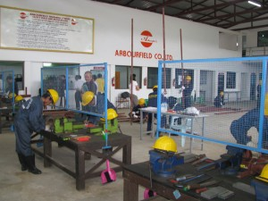機械工ミャンマー人技能実習生トレーニング