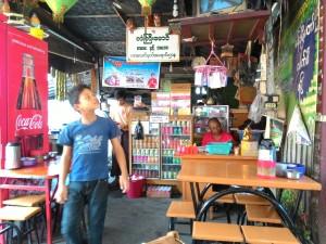 ミャンマー喫茶店のひと時