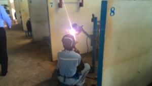 建設溶接実習生ミャンマートレーニングセンター