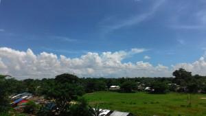 トレーニングセンターからの眺めヤンゴン