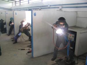 ミャンマー技能実習生 溶接トレーニング