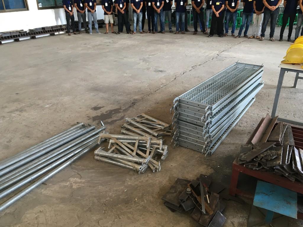 ミャンマー技能実習生とび-足場組立解体採用試験