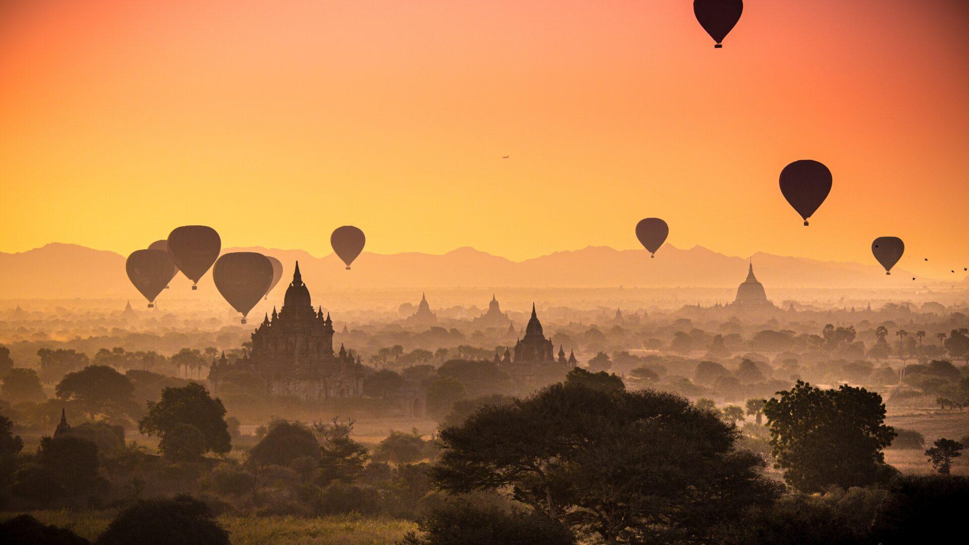 バガン遺跡ミャンマーの美しい景色