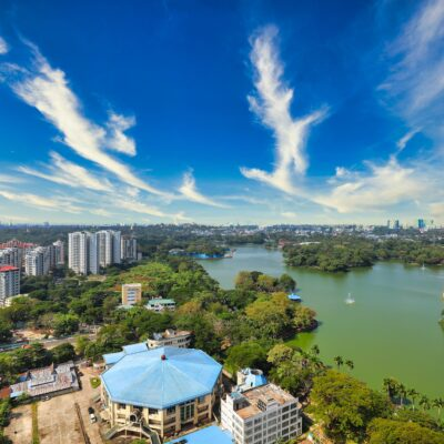 ヤンゴンの美しい景色(空撮)