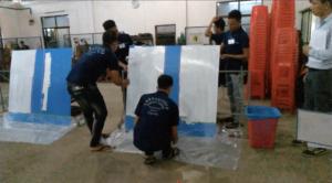 防水施工・塗装職種での採用実技試験【ミャンマー人技能実習送出し機関】