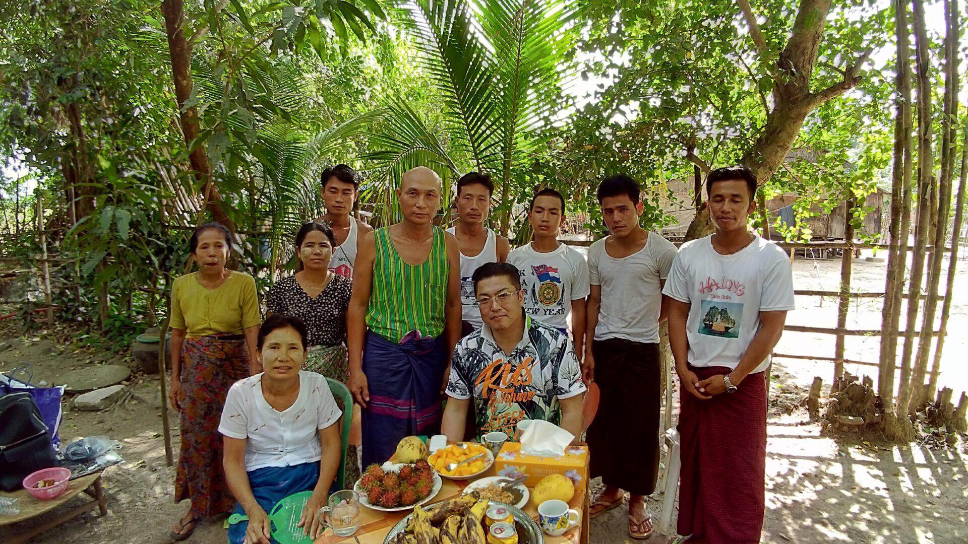 ミャンマーヤンゴンの技能実習生の実家家庭訪問