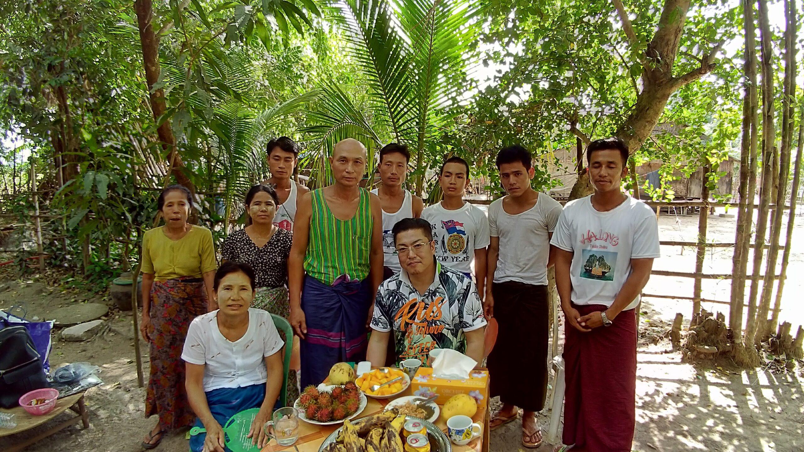 ヤンゴン中心から車で3時間ほどの技能実習生家庭訪問