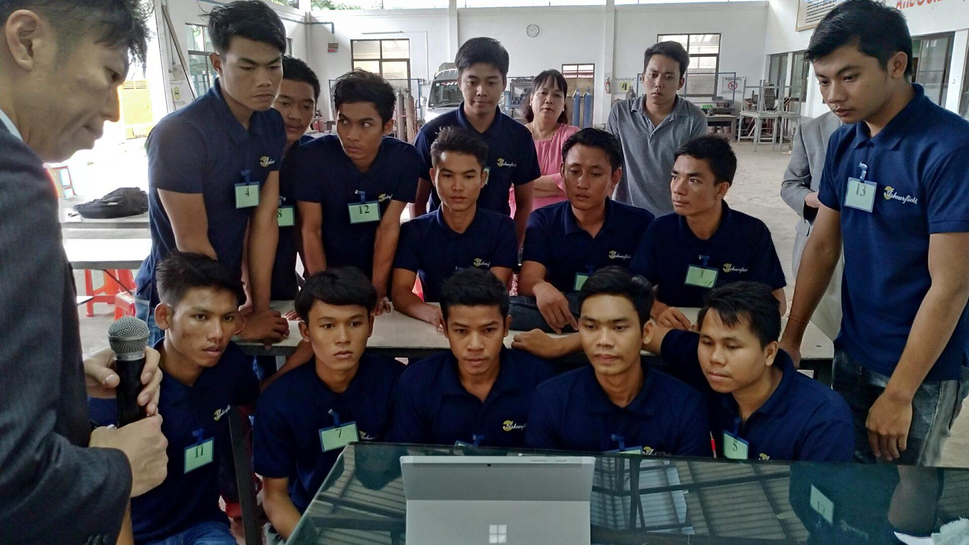 ミャンマー技能実習生採用面接-会社説明