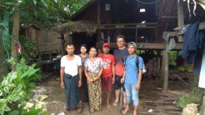 ミャンマー人技能実習生パテインまで家庭訪問