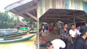 ミャンマー人技能実習生の故郷のパテインの村に向かう船着のりば